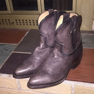 Frye Billy Short Cowboy Boots Size 7 Brown